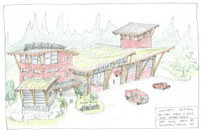 Rendering of Kaslo Emergency Services design concept