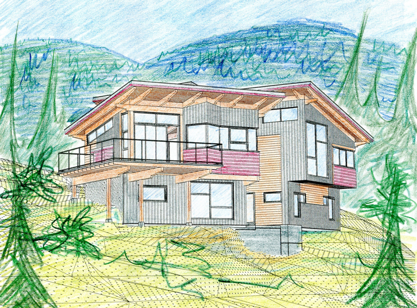 Kaslo Bay Ridge - coloured rendering