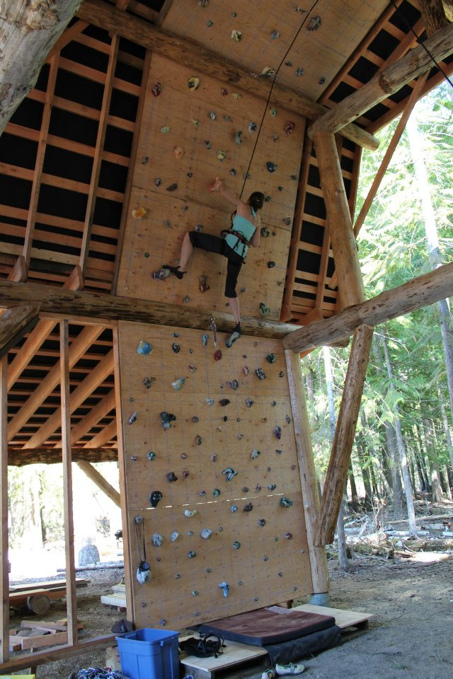 Post Amp Beam Barn Climbing Wall 2 Ecocentric Design