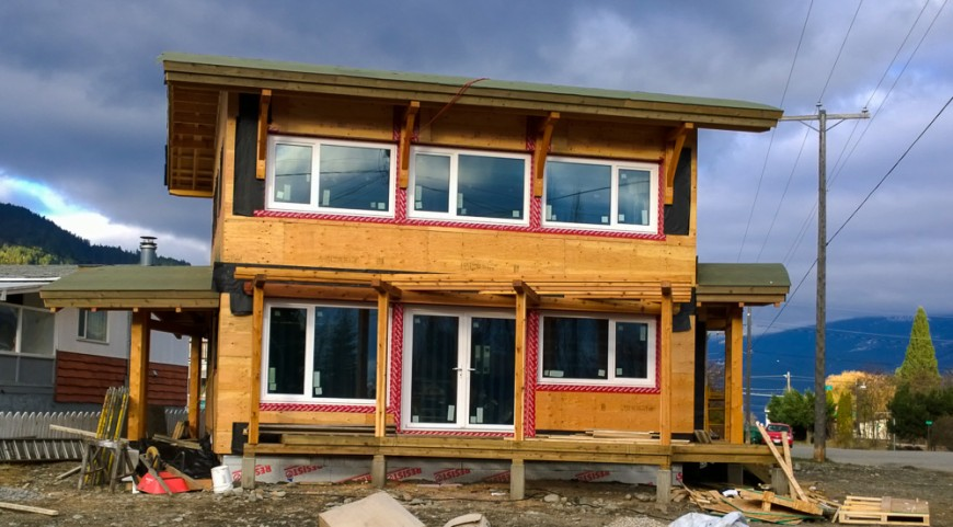 Kaslo Passive House south view