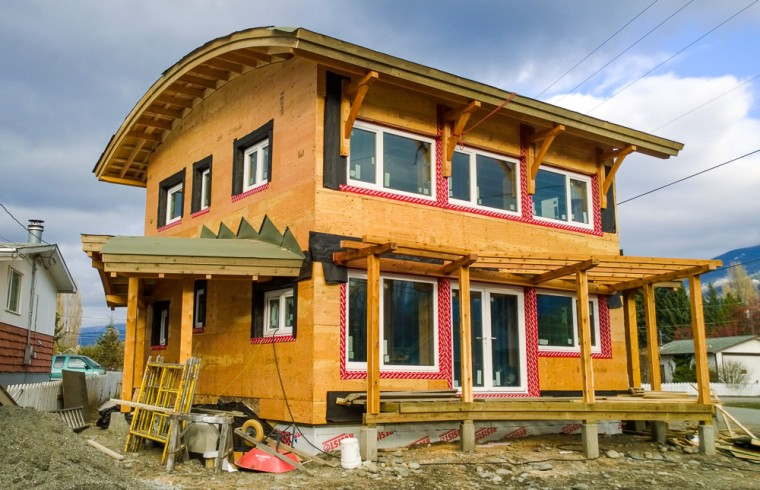 Kaslo Passive House south-west view