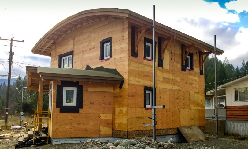 Kaslo Passive House north-east